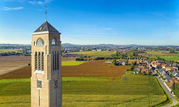 Kerktoren in Zonnebeke is schitterend uitkijkpunt